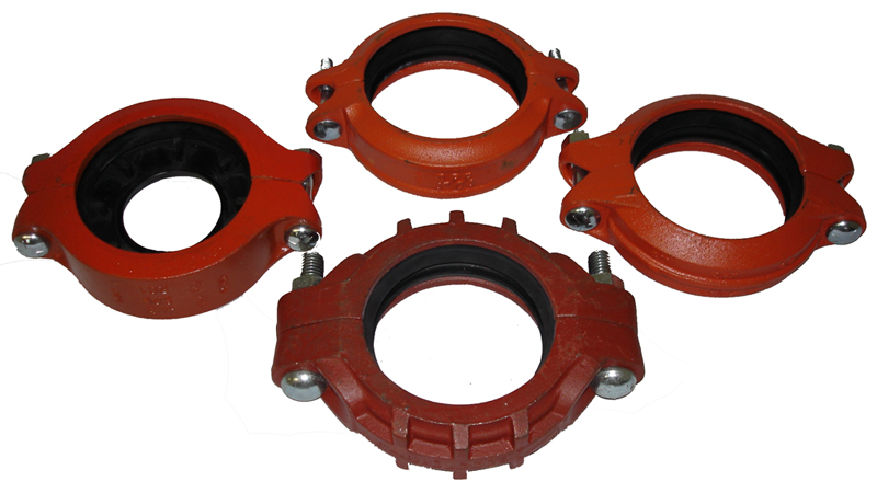 Grooved coupling and pipe fittings